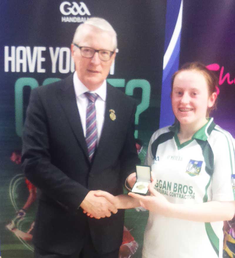 Model School handball club player Caitríona Ní Mhaoláin won the All-Ireland Under-16 competition