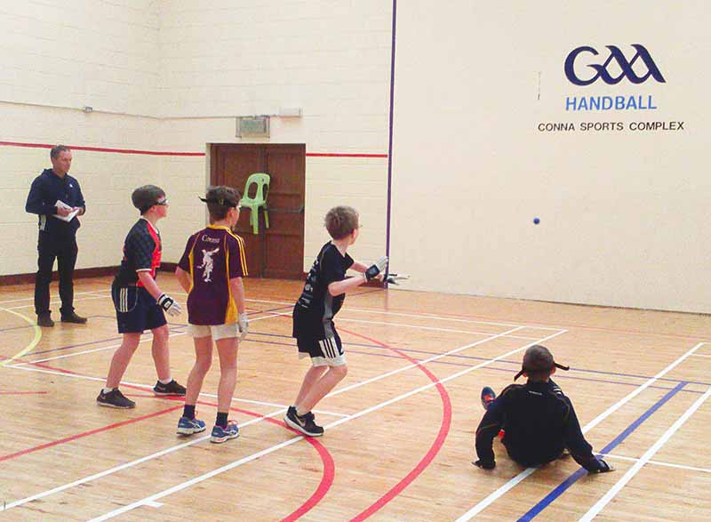 The school handball players recently had a great day out! They travelled to Conna in Co. Cork where they played in a blitz against some local players. The two teams were both excellent and there was a very high standard evident in all games.
